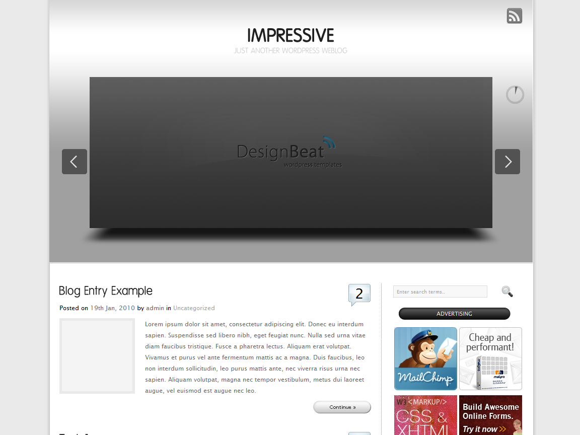 Impressive Wordpress Theme (CMS & Blog)