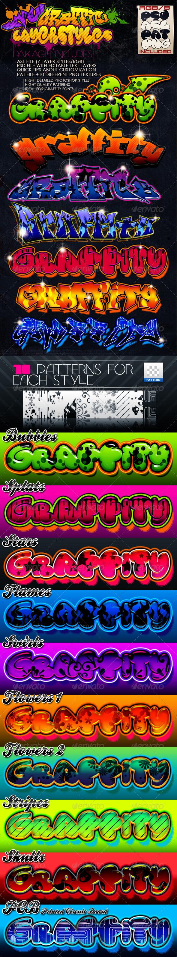 GraphicRiver Graffiti Layer Styles 249793