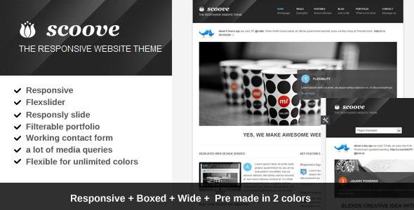 Scoove responsive corporate website theme