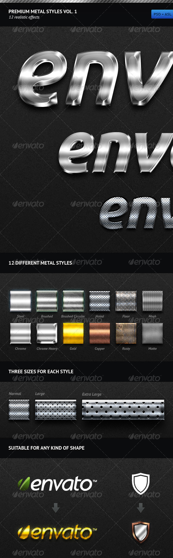 Premium Metal Styles Vol. 1 - Text Effects Styles
