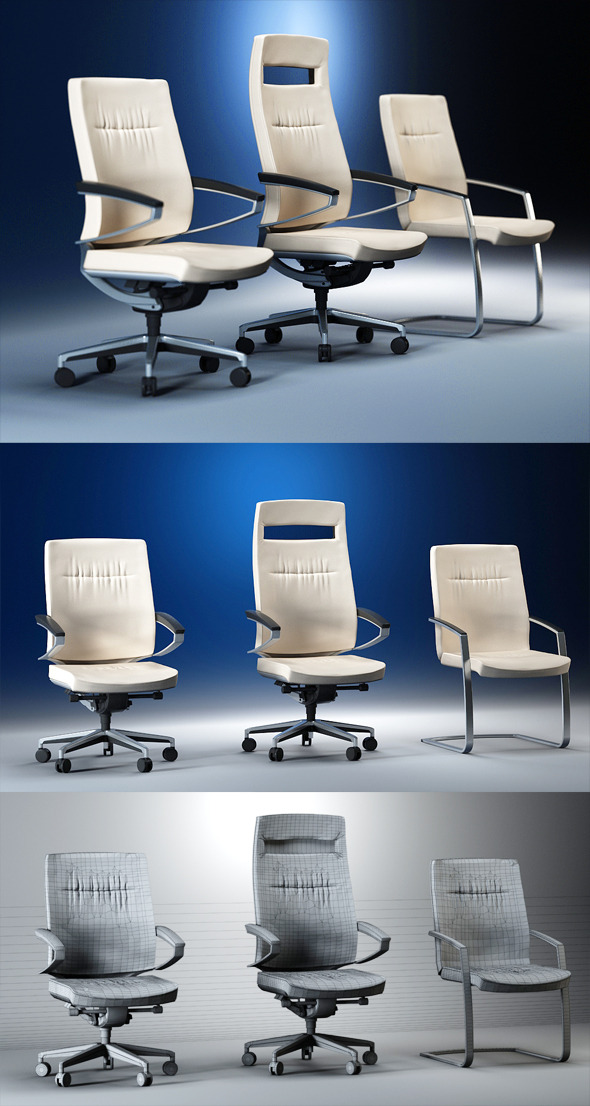 3DOcean Quality 3dmodel of modern chairs Centeo Kloeber 2205759