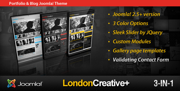 London Creative + (Portfolio & Blog Joomla Theme)  - Joomla CMS Themes