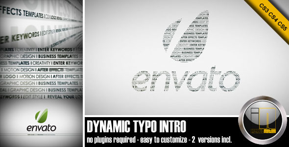 After Effects Project - VideoHive Dynamic Typo Intro 2207350