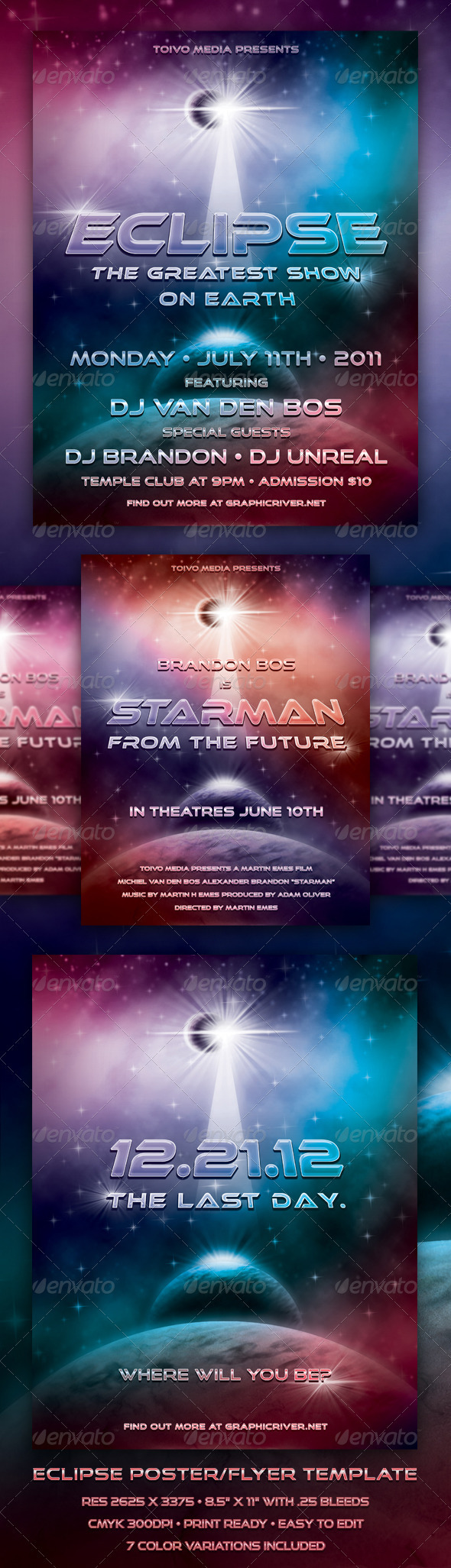 Eclipse Poster/Flyer Template - Clubs & Parties Events