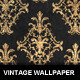 Golden Vintage Wallpaper and Vector - GraphicRiver Item for Sale