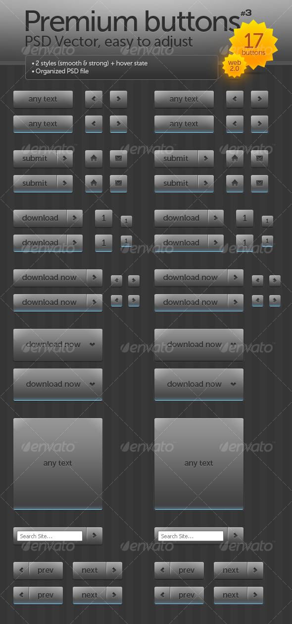 GraphicRiver Premium buttons #3 82719