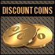 Discount Golden Coins Icons - GraphicRiver Item for Sale