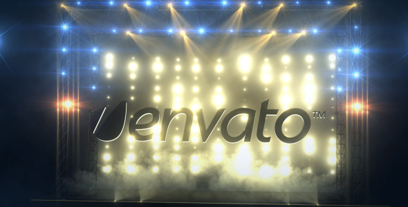 VideoHive Light Up Your Logo On Stage 2210013