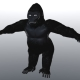 Gorilla with hair particles