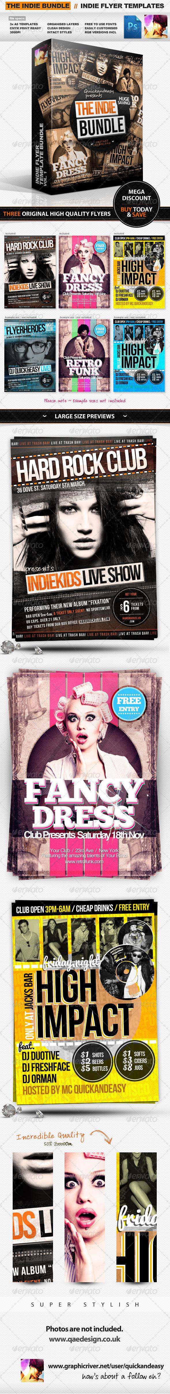 GraphicRiver Indie Flyer Templates Bundle Vol.1 2211129