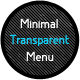 Minimal Transparent Menu