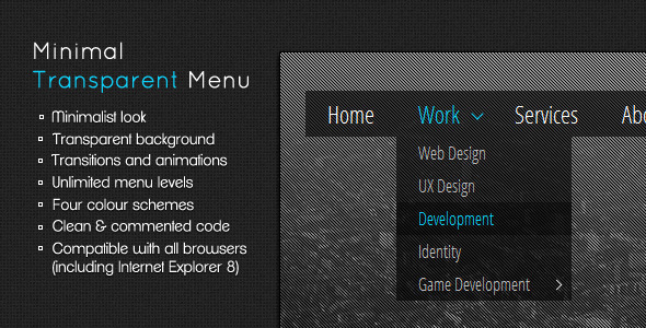 CodeCanyon Minimal Transparent Menu 2211137