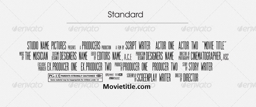 movie poster credits template free - jinwook 39 s billing block template by jinwook graphicriver
