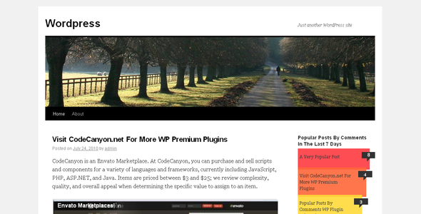 CodeCanyon Popular Posts Bar Widget 115225