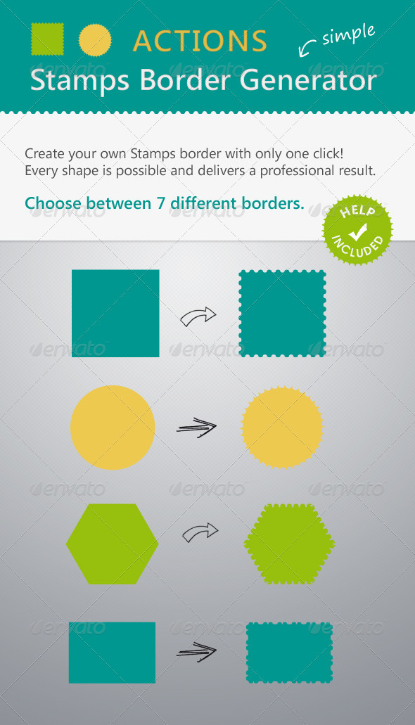 Stamps Border Actions - Actions Illustrator