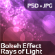 Bokeh Effect - Rays of Light - GraphicRiver Item for Sale