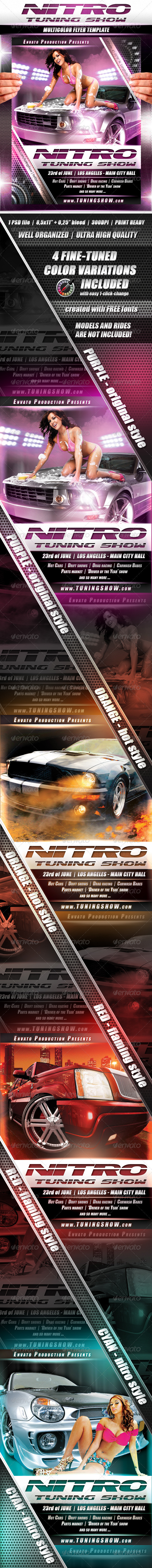 Nitro Tuning Show flyer - Flyers Print Templates