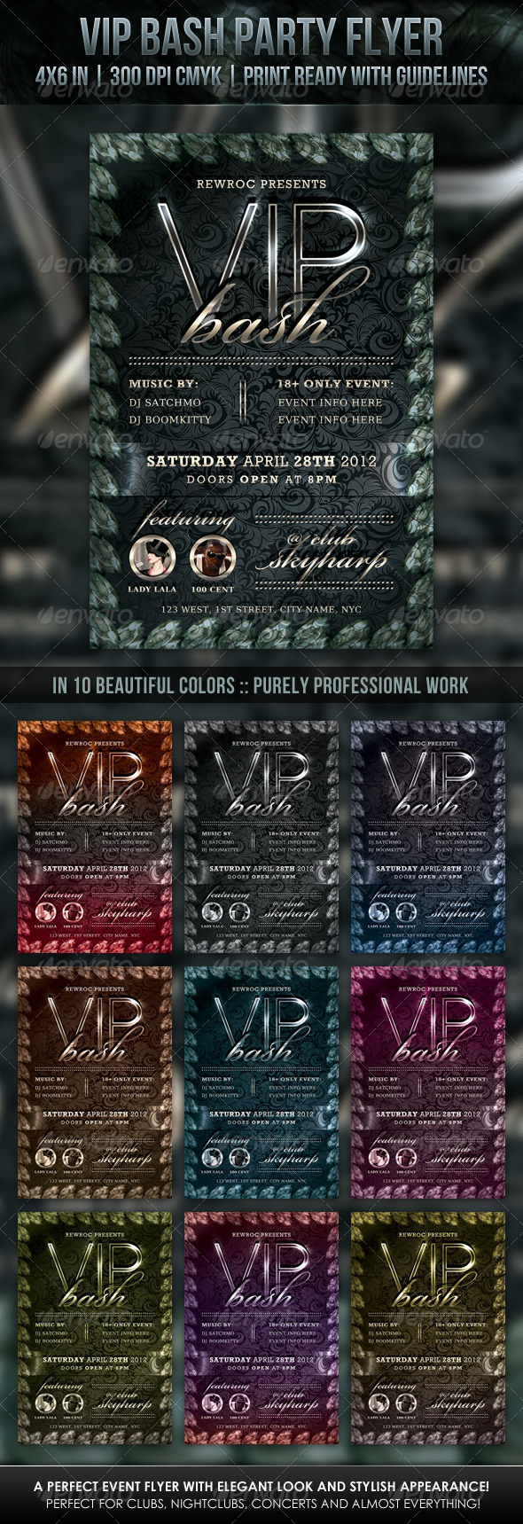 GraphicRiver VIP Bash Party Flyer 2215418