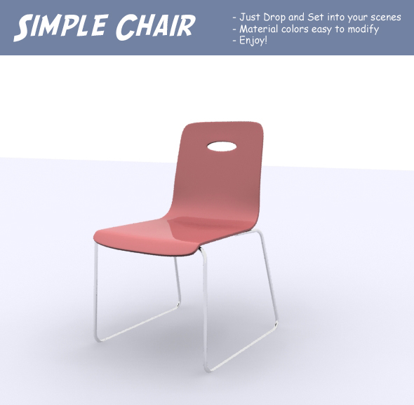 3DOcean Simple Chair 82761