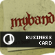 myBand Business Card - GraphicRiver Item for Sale