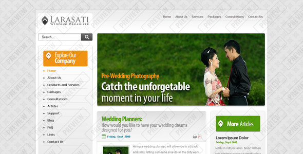 ThemeForest Larasati Wedding 82944