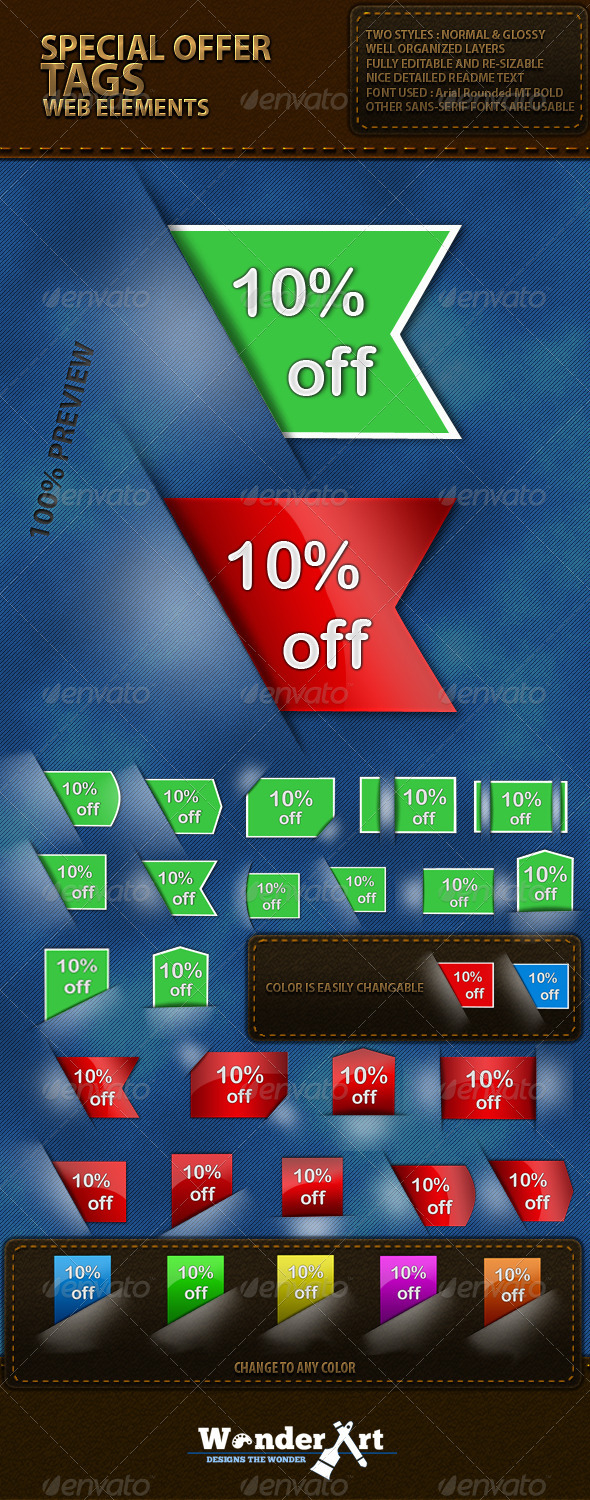 GraphicRiver Tags- Web Element 120528