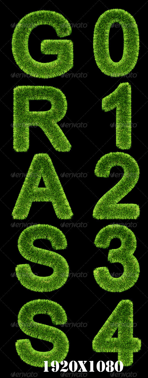GraphicRiver Grass Text Effect 2217440