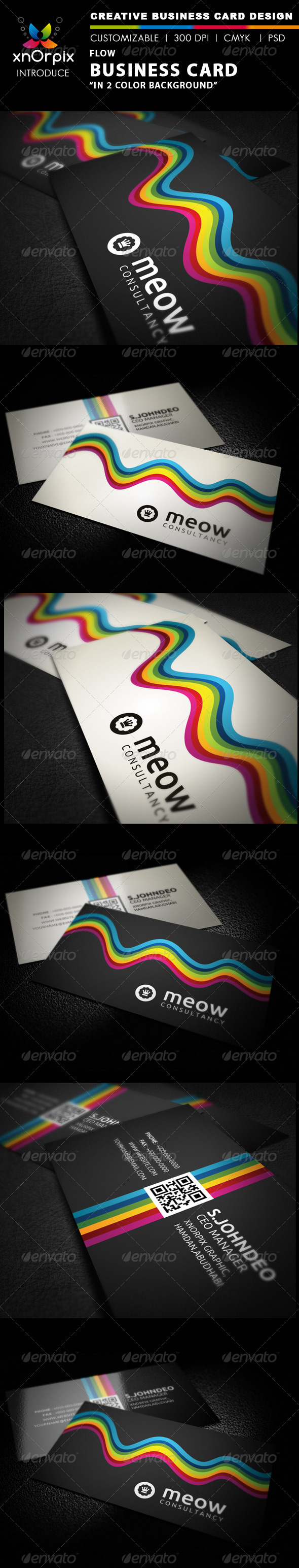 GraphicRiver Flow Business Card 2217536