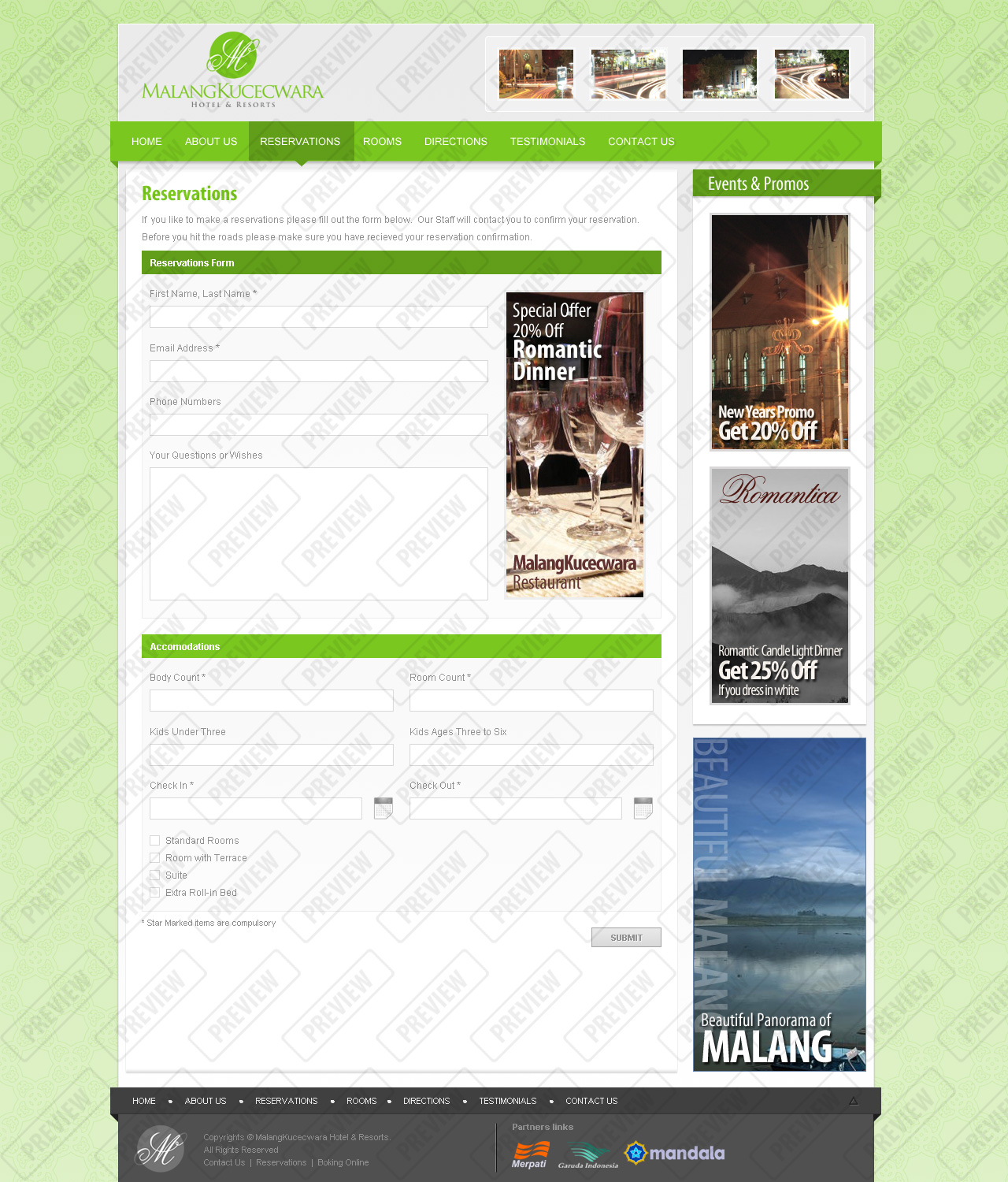 Malang Kucecwara, Hotel and Resort Template