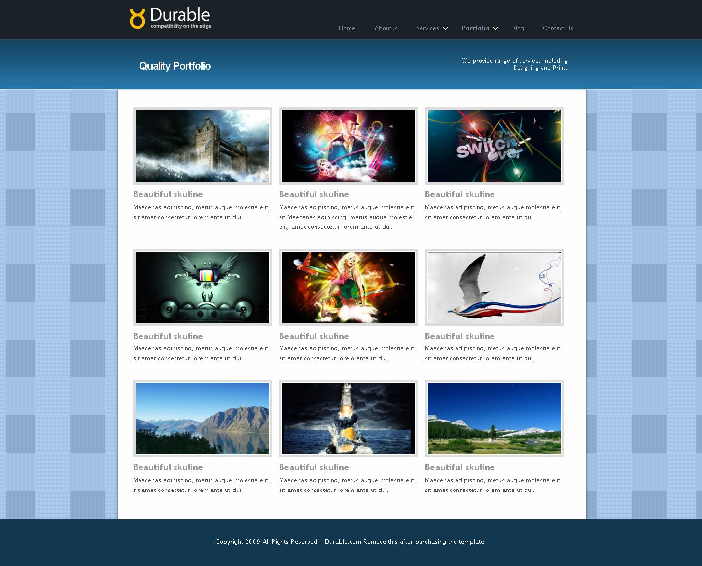Durable Business & Portfolio Html Template