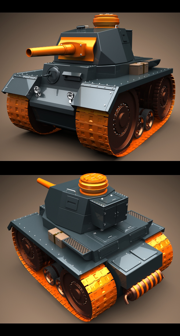3DOcean Mini Panzer Tank 83058
