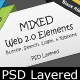 Mixed Web 2.0 Elements - GraphicRiver Item for Sale