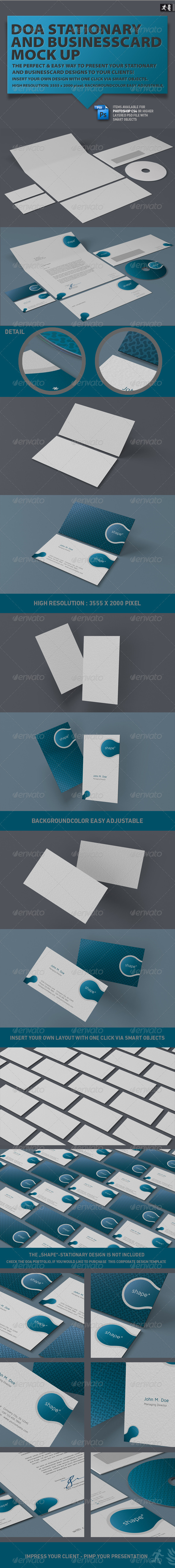 DOA Stationary and Business Card Mock up - Stationery Print
