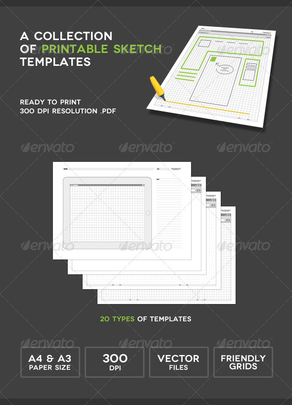 GraphicRiver Printable Sketch Templates 2198626