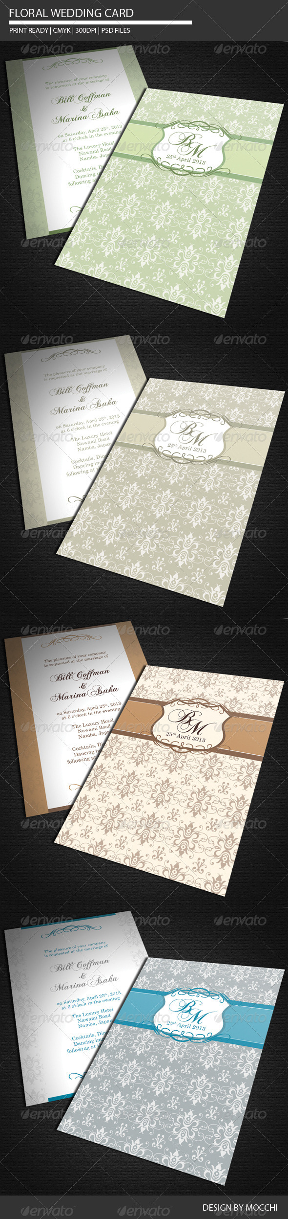 Floral Wedding Card - Weddings Cards & Invites
