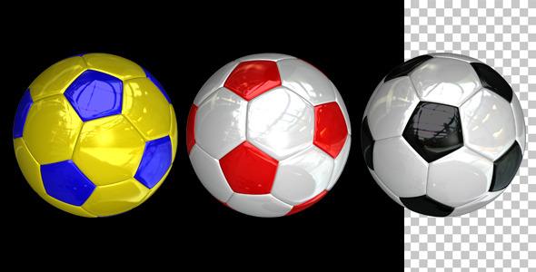 Soccer Ball Loop Glossy 3-Pack