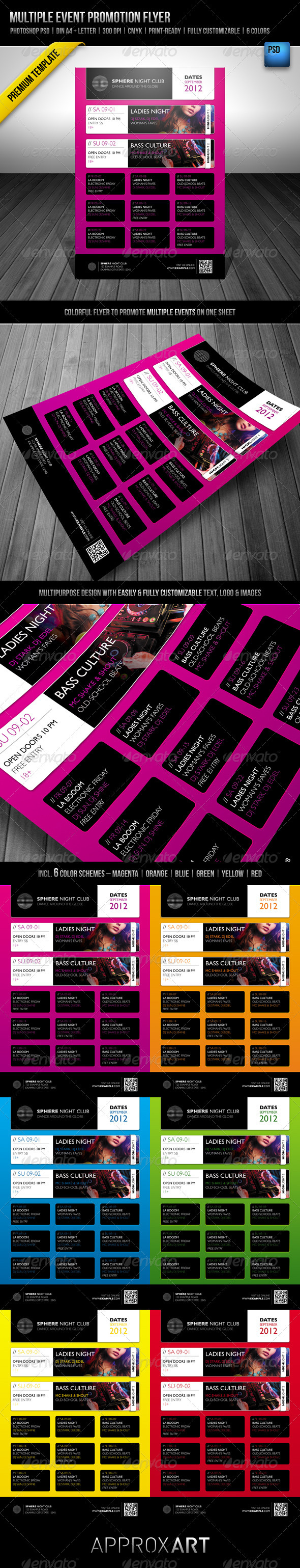 GraphicRiver Multiple Event Promotion Flyer 2126050