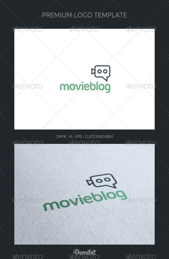 GraphicRiver Movie Blog and Chat Logo Template 2224144