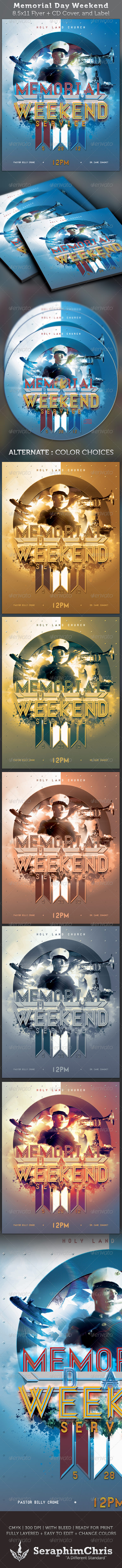 GraphicRiver Memorial Day Weekend Full Page Flyer and CD Cover 2224159