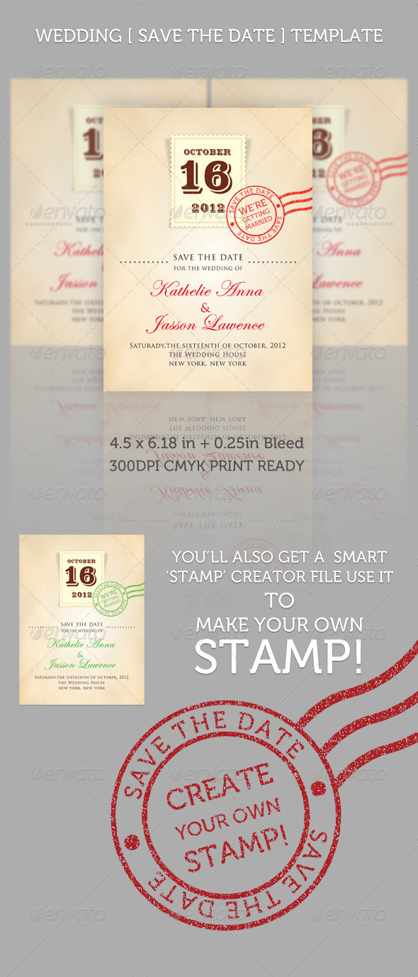 GraphicRiver Wedding Save the Date Stamp 246784
