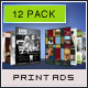 Print Ad Templates 12 Pack