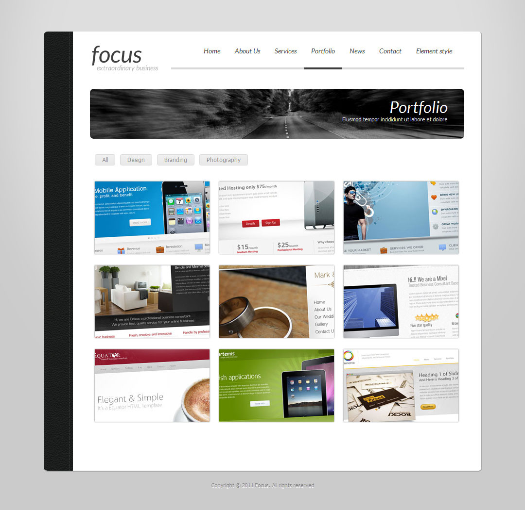 Focus - Simple One Page Template 2