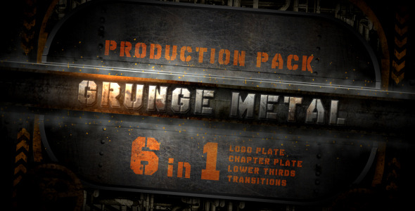 VideoHive grunge metal production pack 2224440