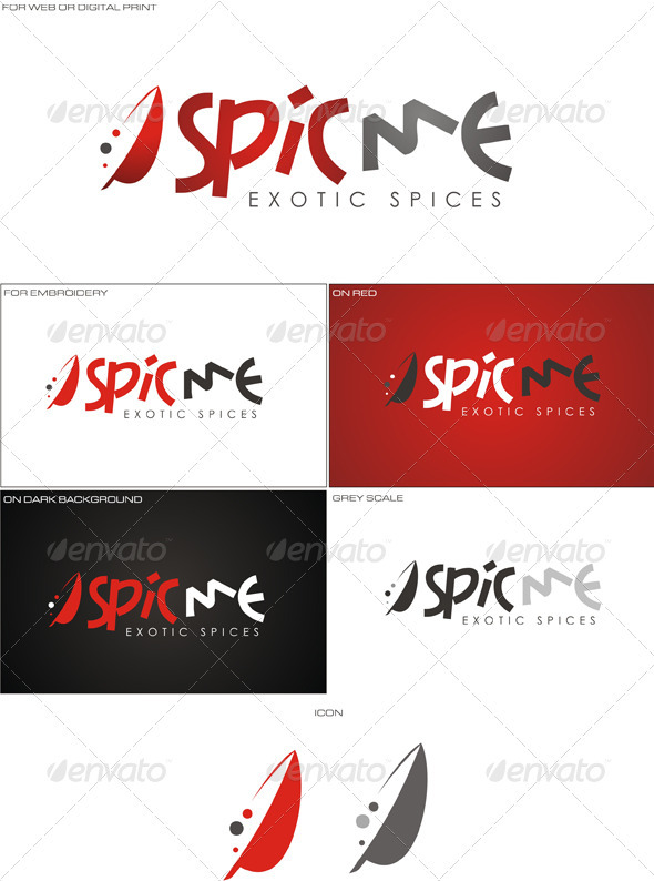 SpiceMe Logo  - Food Logo Templates