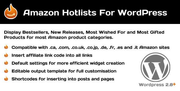 CodeCanyon Amazon Hotlists For WordPress 253061
