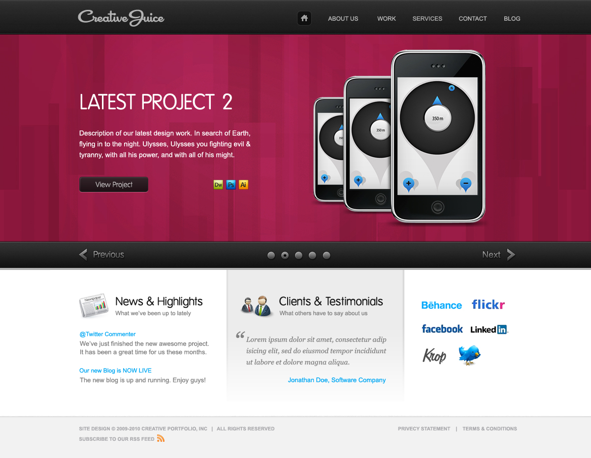 Creative Juice HTML - Showcase Portfolio