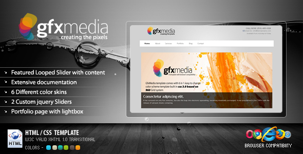 GFXMedia - Business & Portfolio Template 6 in 1