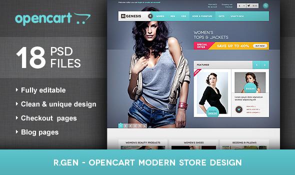ThemeForest R.Gen OpenCart Modern Store Design 2228135