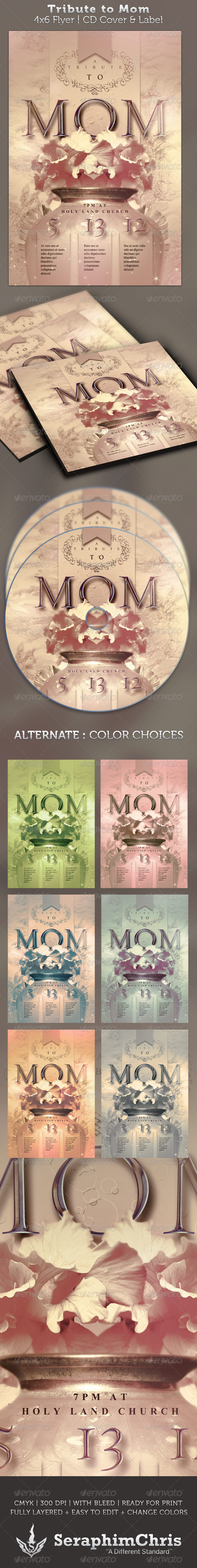 GraphicRiver Tribute to Mom 4x6 Flyer and CD Cover 2228400