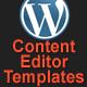 Editor modelli di contenuto per WordPress - WorldWideScripts.net oggetto in vendita